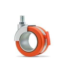 "3"" Hollow Wheel Caster w/ Brake & Stem"