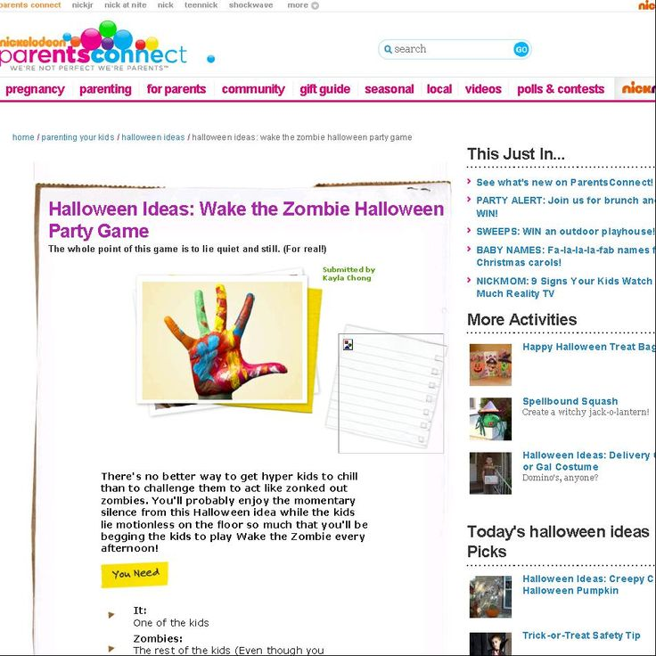 halloween ideas wake the zombie halloween party game halloween ideas parents connect - Names For A Halloween Party