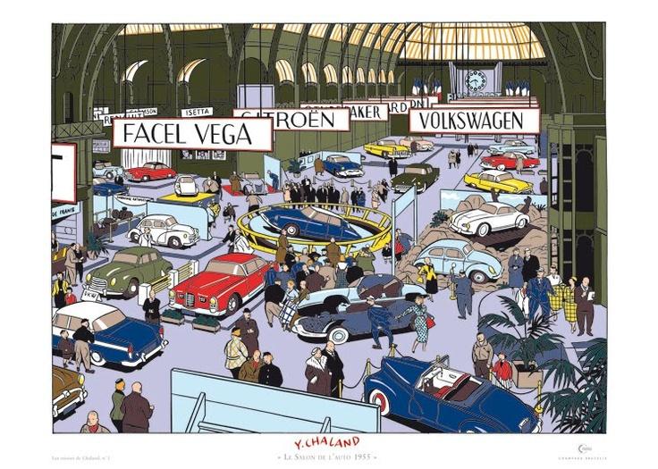Le Salon de l'auto 1955