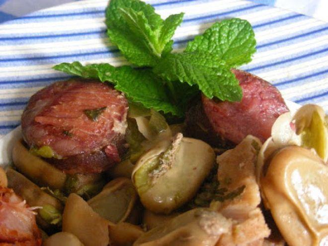 entrecosto com favas - comida tipica do ribatejo