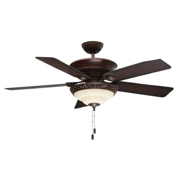Indoor Brushed Cocoa Bronze Ceiling Fan With Light