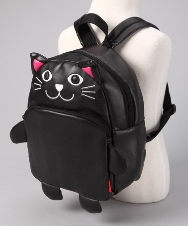 Take a look at this Cat Vinyl Backpack by Pack it Up: Kids' Bags on #zulily today! if this was adult size, I would totally wear it
