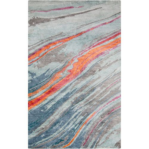 Best Surya Gemini Mint And Burnt Orange Rectangular 5 Ft X 8 400 x 300