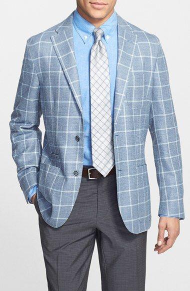 Men's Corneliani Trim Fit Check Cotton Sport Coat