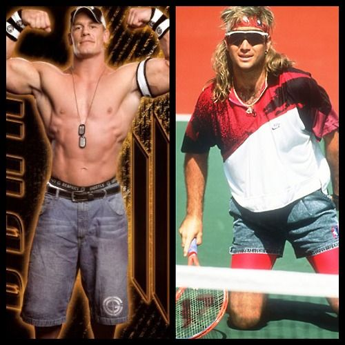 JORTS: Who wore them better? WWE's John Cena or tennis pro Andre Agassi?