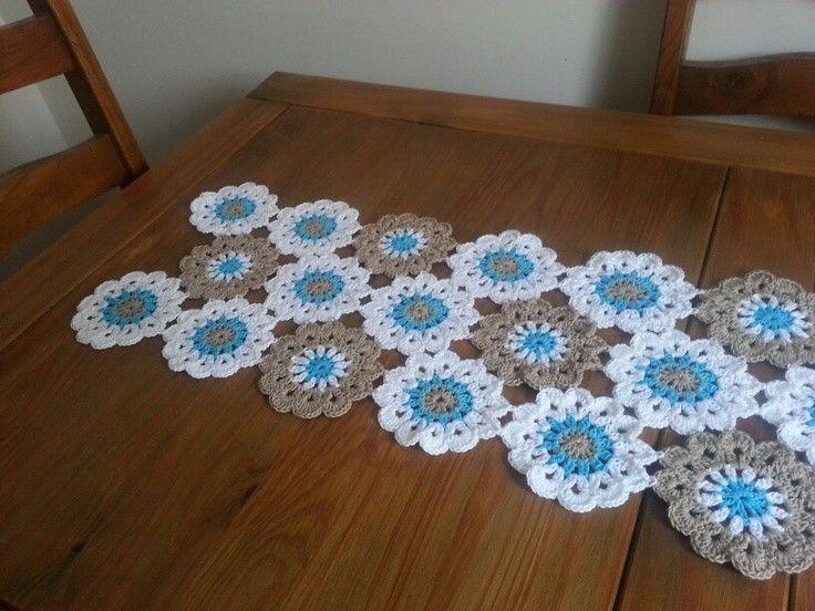 Handmade Floral Crochet Table Runner Free Pattern For 2015