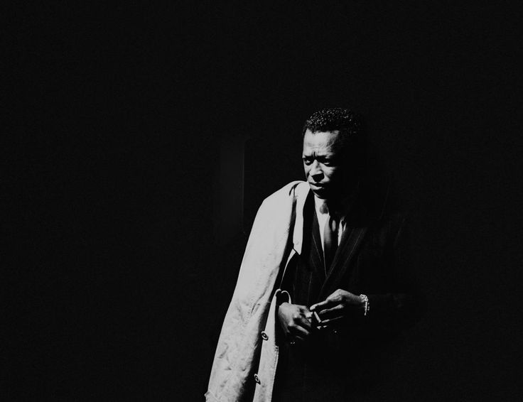 MILES AHEAD: This magnificent portrait of legendary jazz trumpeter and composer Miles Davis (1926-1991), taken in April 1961 by photographer Leigh Wiener, shows the musician in a reflective mood. Courtesy of the Morrison Hotel Gallery.