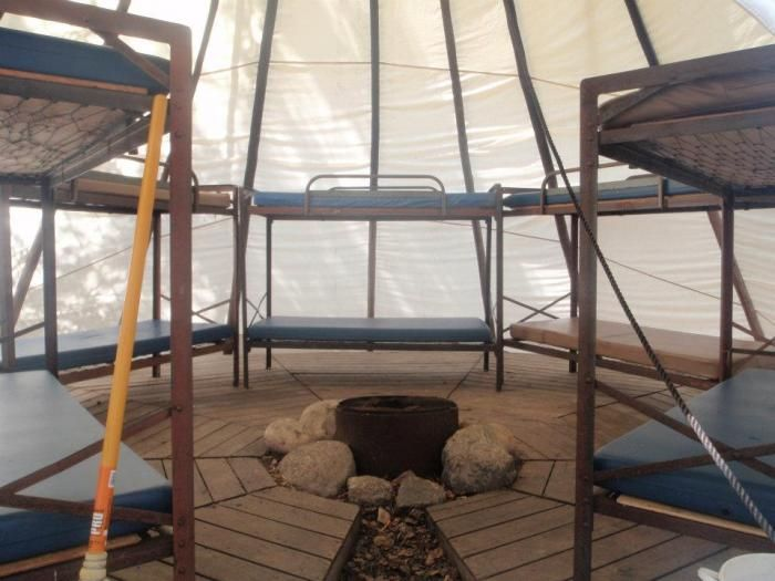 Tipi Interior At Camp Chief Hector Ymca Www Ymcacalgary