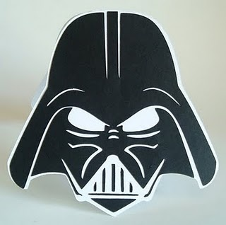 Darth Vader Birthday Card - Pinning to my For the Kids board, but there's also two adult males who will be getting one of these in the next year! :>