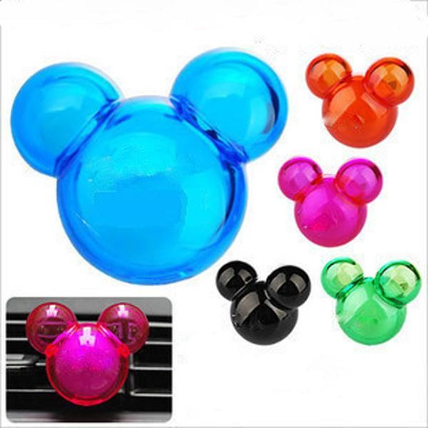 2 PCS new Plastic car air freshener Mickey car aromatizerflavor in car auto air freshener fresh car scent lovely cartoon