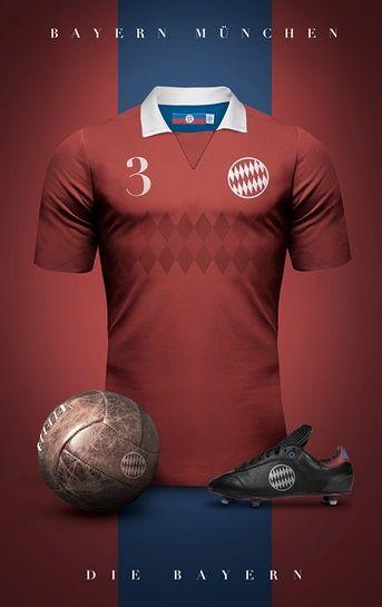 Bayern Munich - Camisetas vintage de gigantes de Europa