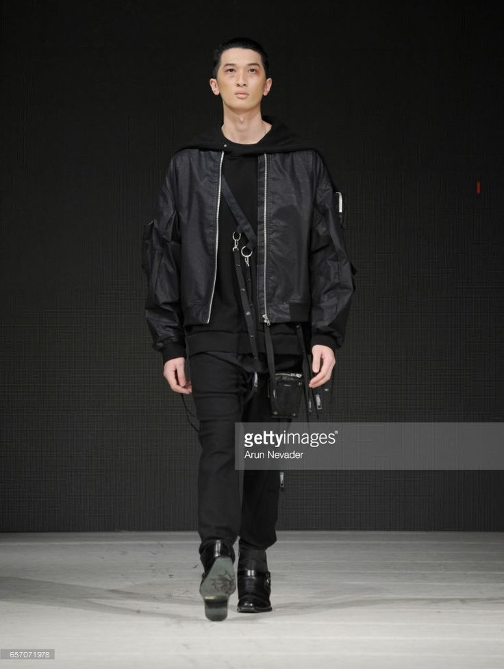 A model walks the runway wearing Blackmerle during day four of Vancouver Fashion Week Fall/Winter 2017 at Chinese Cultural Centre of Greater Vancouver on March 23, 2017 in Vancouver, Canada.