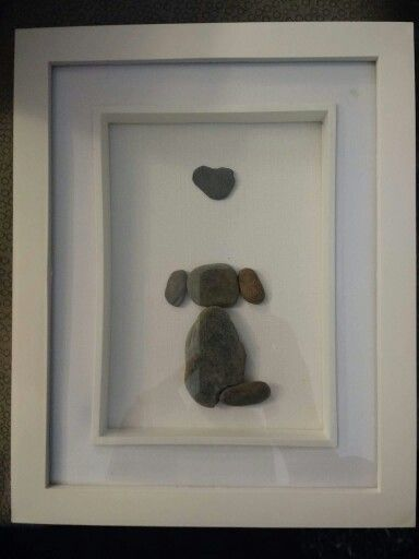 Pebble art, dog by Truly Trudy                                                                                                                                                      More