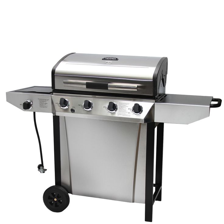 Thermos 4-Burner Propane Gas Grill with Side Shelves