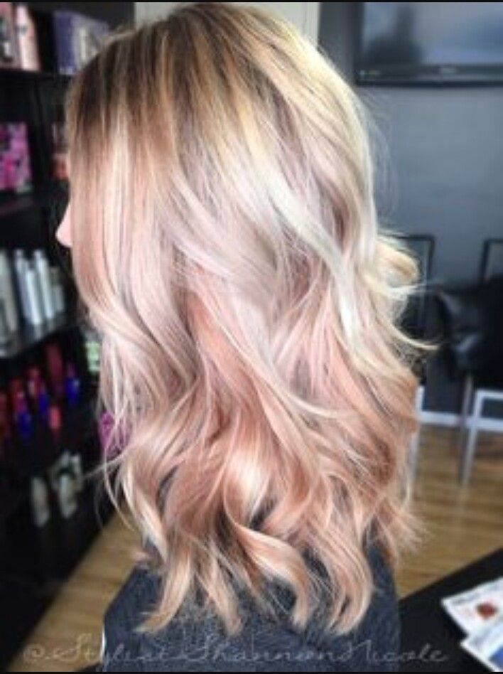 Rose Gold and Blonde