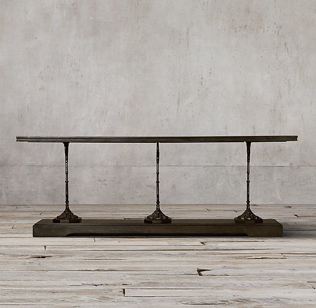 "19th C. French Zinc and Cast Iron 92"" Console"