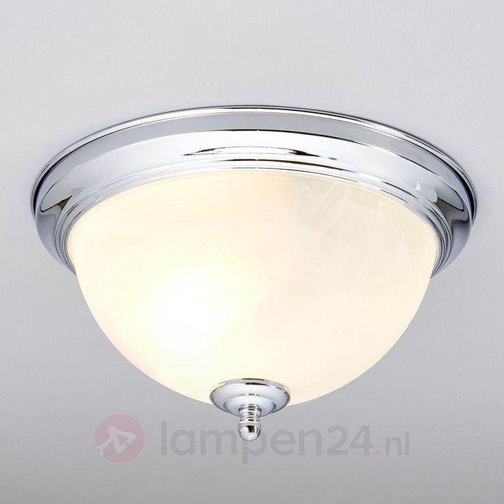 Chroomkleurige badkamer-plafondlamp Corvin veilig & makkelijk online…