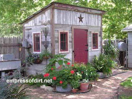 Sweet little shed with matching door and window frames. Come pick your favorite...