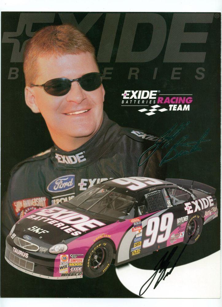 Jeff Burton #99 Exide Batteries 8 1/2x11 Driver/Team Autographed Postcard