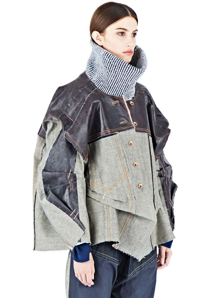 Hannah Jinkins Latex Coated XXL Denim Jacket