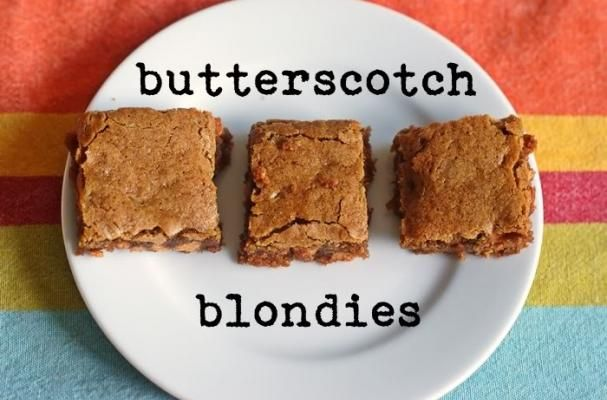 Butterscotch Blondies | You can make these any day of the week, any ...