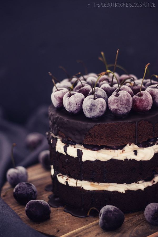 ... black forest cherry cake ...