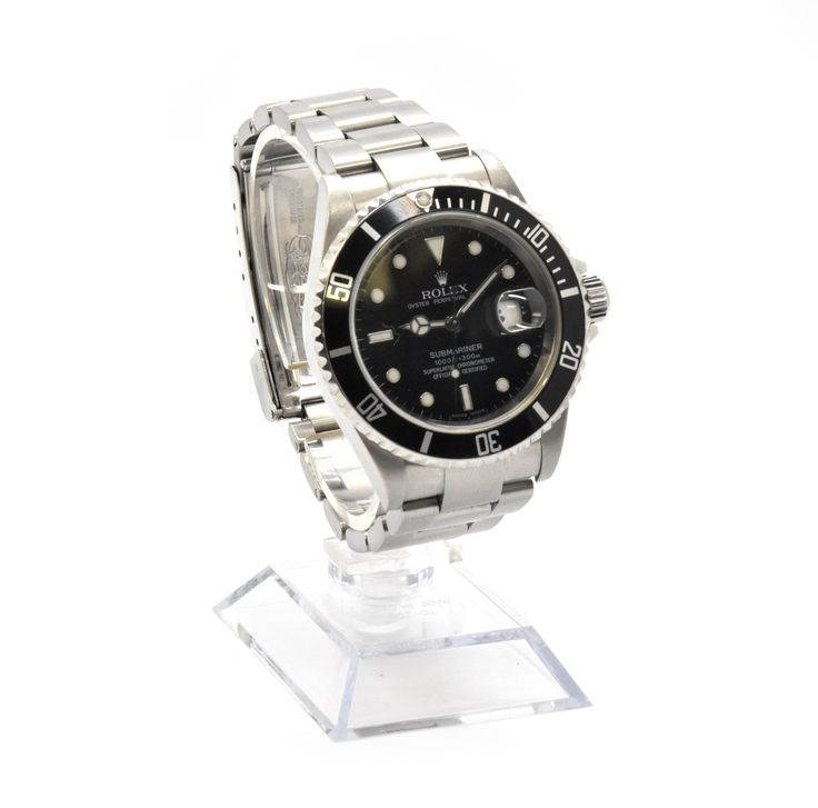 Stainless Steel Rolex Submariner with Black Dial Watch Ref: 16610