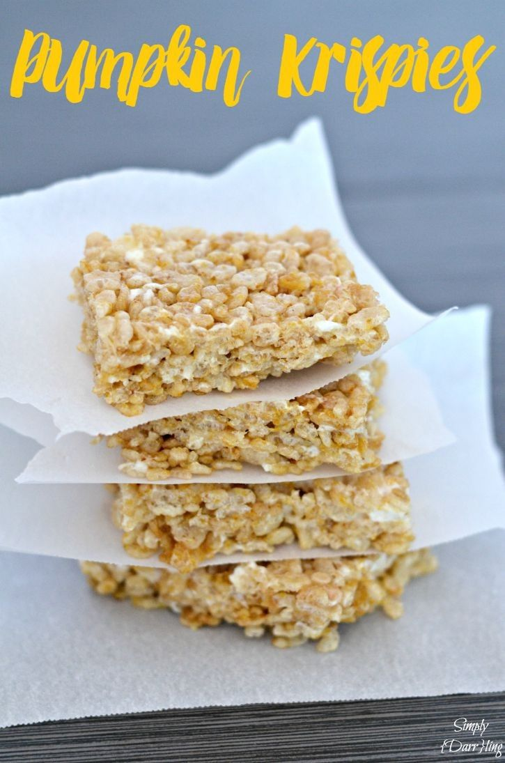 Pumpkin Rice Krispies – The Perfect Fall Dessert. This easy and delicious treat is a perfect way to use the signature flavor of fall.