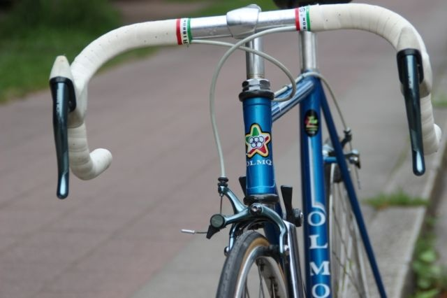 Olmo bikes were incredibly popular in the 80s. The color matched Firenze was the one I remember, but this is pretty beautiful.