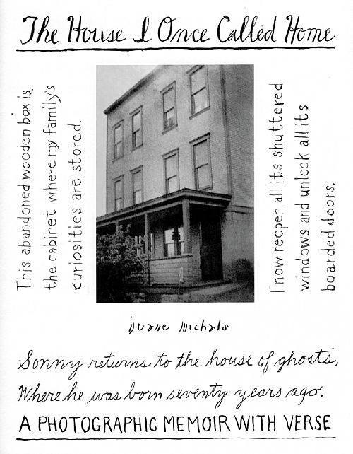 "duane michals house i once called home | Image from Duane Michals' ""The House I Once Called Home: A ..."