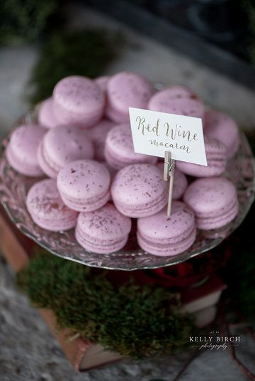 Dessert signage. Wedding macaron flavor sign. Calligraphy by @thecurlyquill, Photo from Farm Shiek Wedding collection by Kelly Birch Photography