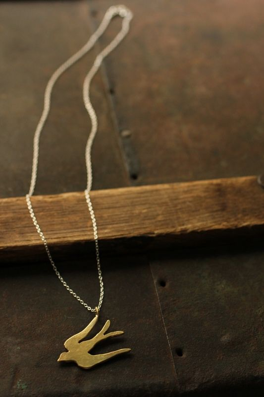 Swallow Brass Necklace - IRRE
