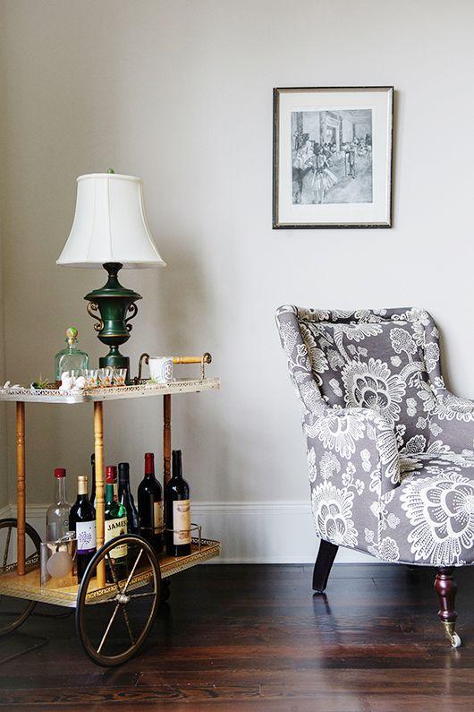 Janet Berggren's home via sfgirlbybay. Cool idea for a cart!