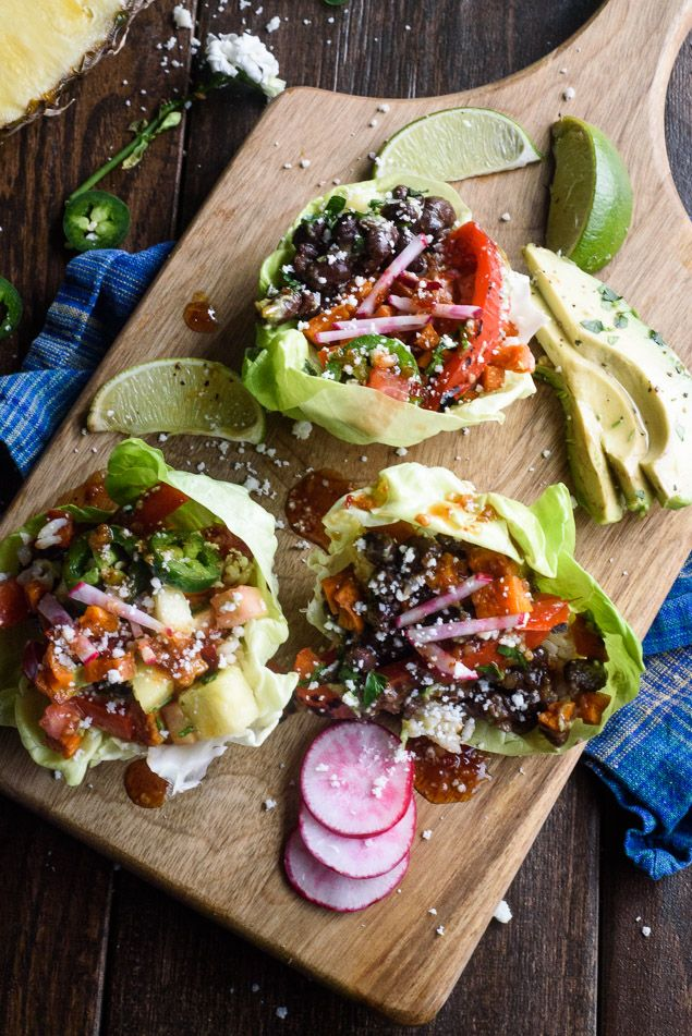 It's hard to find healthy vegetarian recipes that my husband and boys will eat. This vegetarian lettuce wraps recipe is my answer to manly…