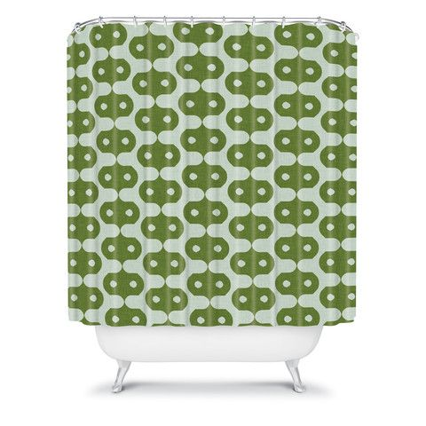 Holli Zollinger Climbing Green Shower Curtain #green #chartreuse #emerald #kelly  #avocado #sage #pattern  #home #decor #bath #bathroom