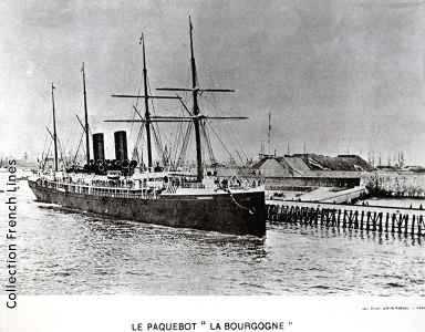 SS La Bourgogne: in 1888, Giovanni Conta traveled from Le Havre, France to California, arriving on April 17. He was about 30 years of age and was listed in the customs manifest as a farmer.