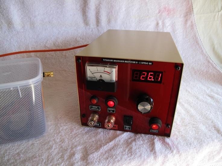Custom built titanium colouring rectifier. 0 to 130VDC @ 8A.