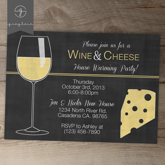 Wine Party Invites  Wine and Cheese Party Invitations