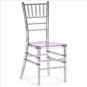 Zuo Diamond Dining Chair, Transparent