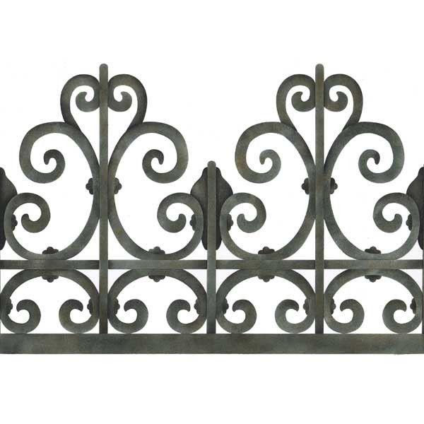 Trompe L'oeil Wall Stencil Victorian Wrought Iron | Royal Design Studio