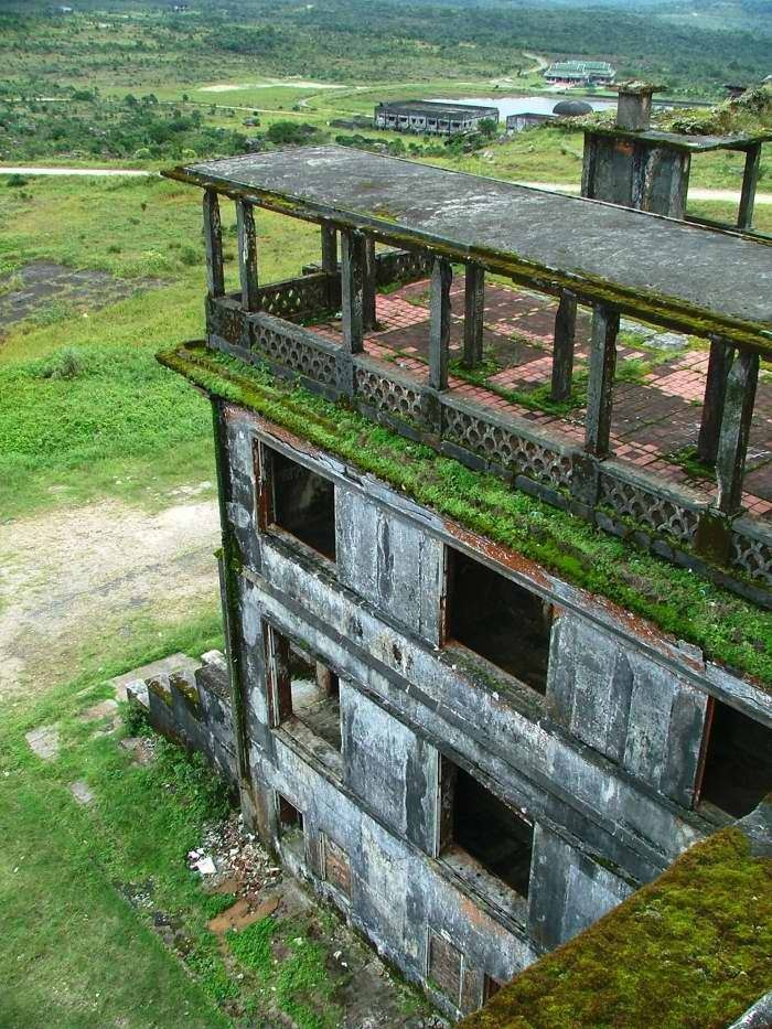 Preah Monivong National Park, in Kampot province, a ghost town called Bokor.
