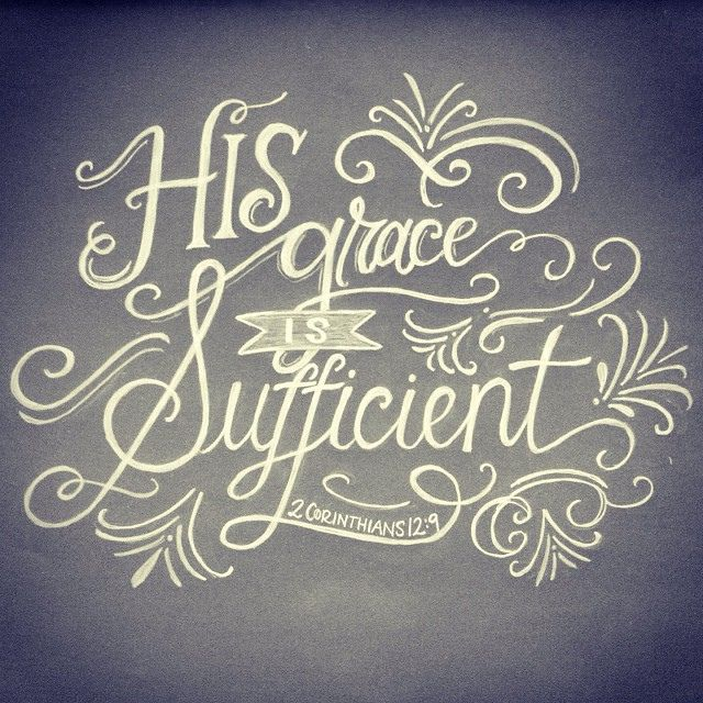 """His grace is sufficient"" (2 Corinthians 12:19). #bibleverse #quotes"