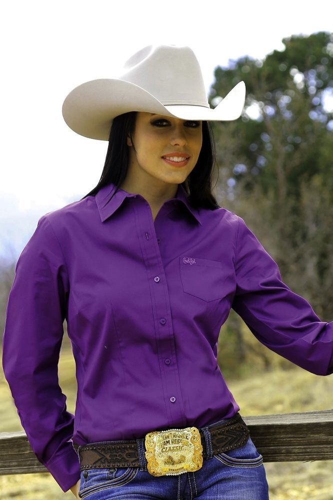 $24.99! CRUEL GIRL RODEO Western Barrel Arena Fit PURPLE SHIRT COWGIRL NWT MEDIUM #CruelGirl #Western