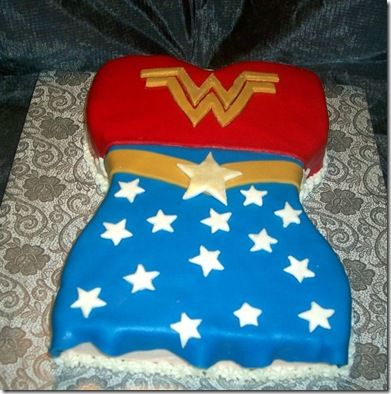 Wonder Woman cake - totally doing this for my next Wonder Woman