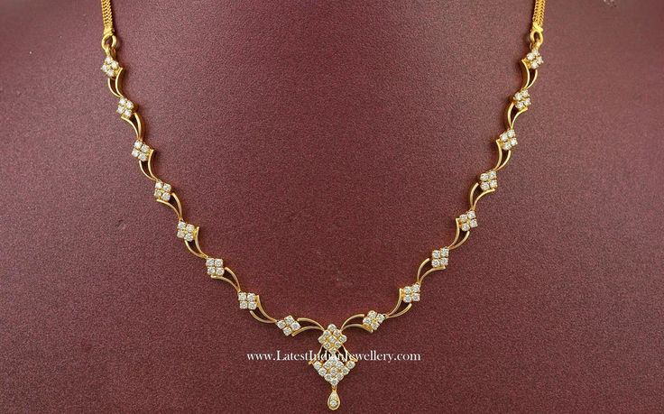 Simple Diamond Necklace Design