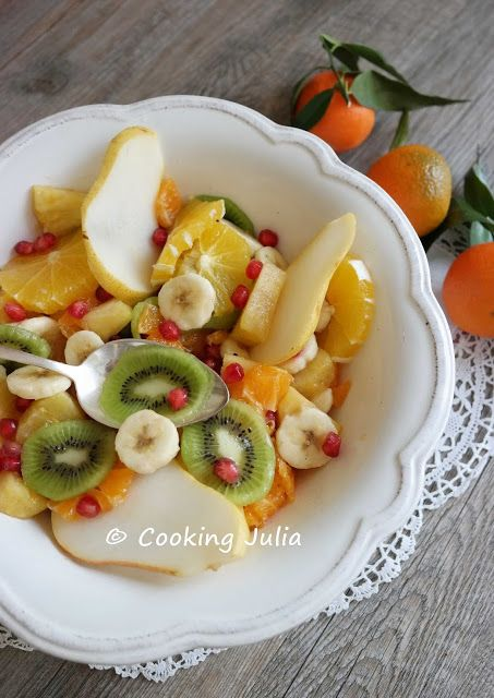 COOKING JULIA: SALADE DE FRUITS D'HIVER