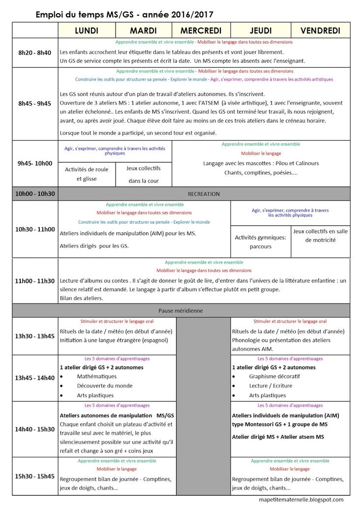 Super 140 best Progressions programmations TPS PS MS GS Maternelle  TH52