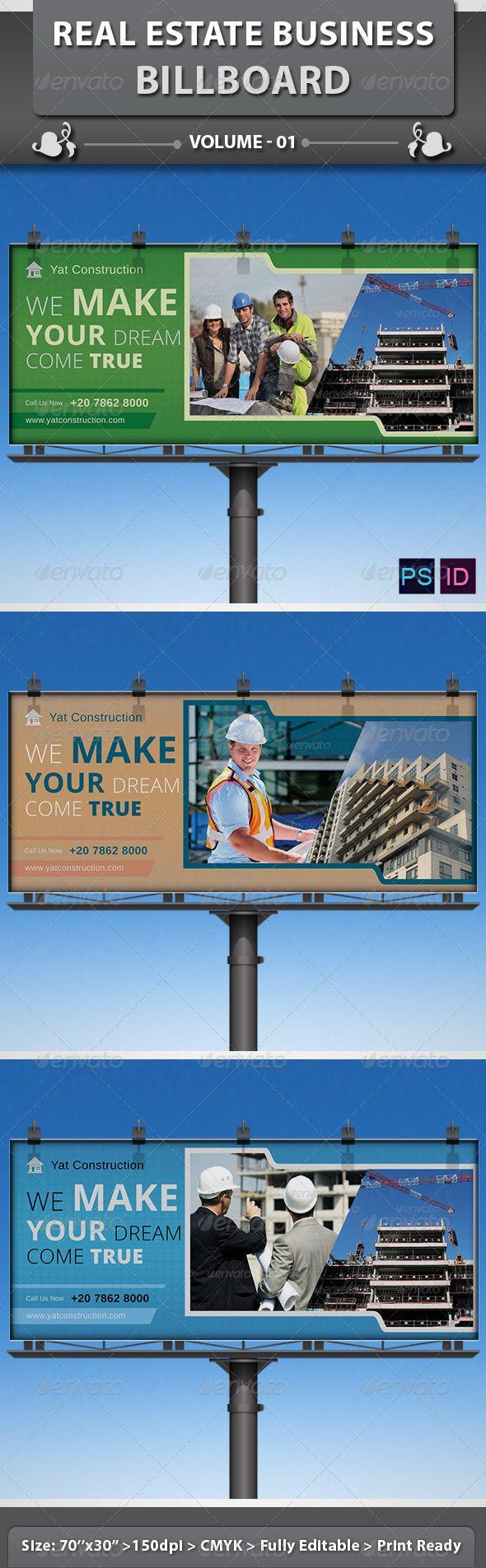 Real estate billboard design samples - Real Estate Business Billboard Volume 1