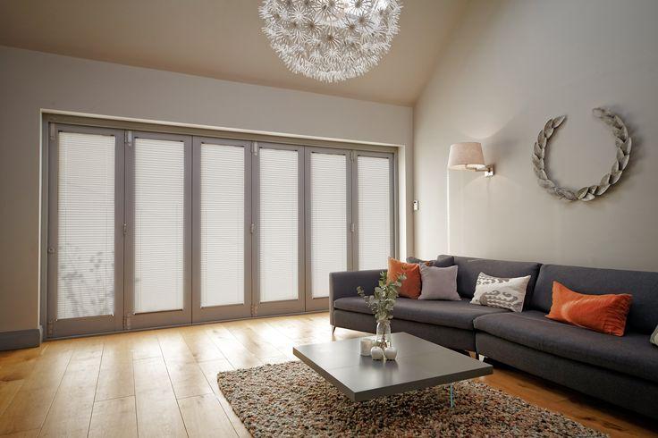 Orange and grey themed bi-fold lounge