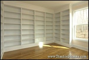 Built-In Home Office   Floor Plans with Office   Homes with a Study